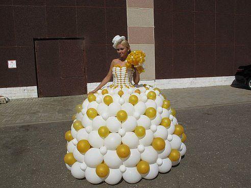 Платья из шариков мастер класс