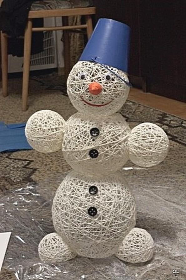 Новогодние поделки шары своими руками фото