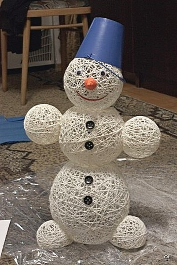 Делаем снеговика своими руками фото