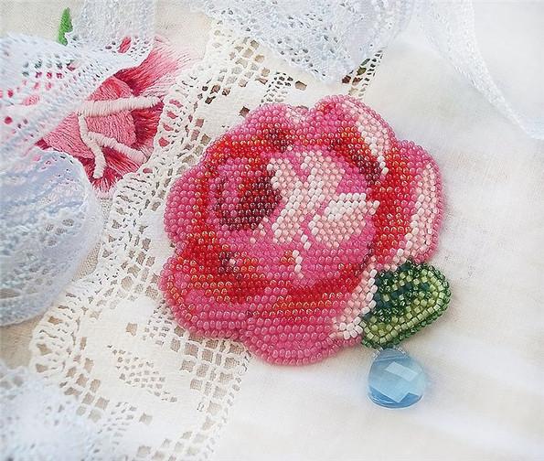 Цветочные броши от Ирины (Romantic embroidery). .