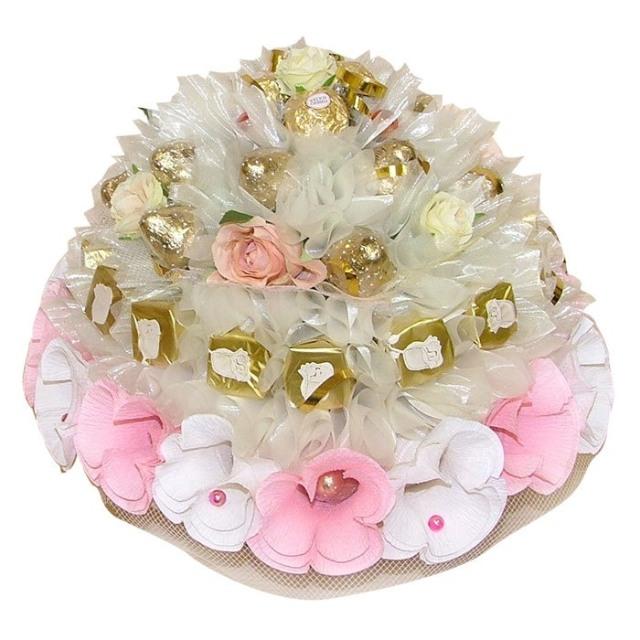 Сладкий букет из конфет своими руками на свадьбу 83