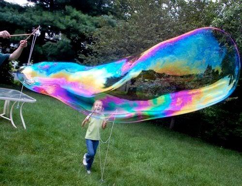 Как сделать большие мыльные пузыри раствор
