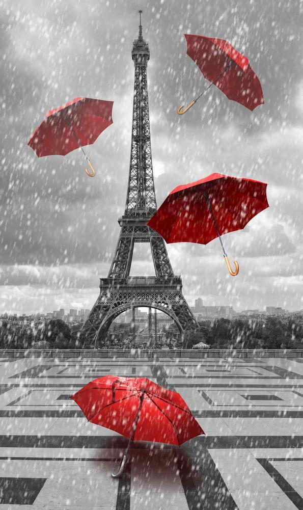 фото черно-белое с красным
