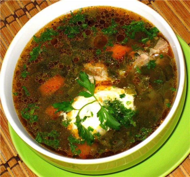 Зеленый борщ с щавелем рецепт с фото пошагово