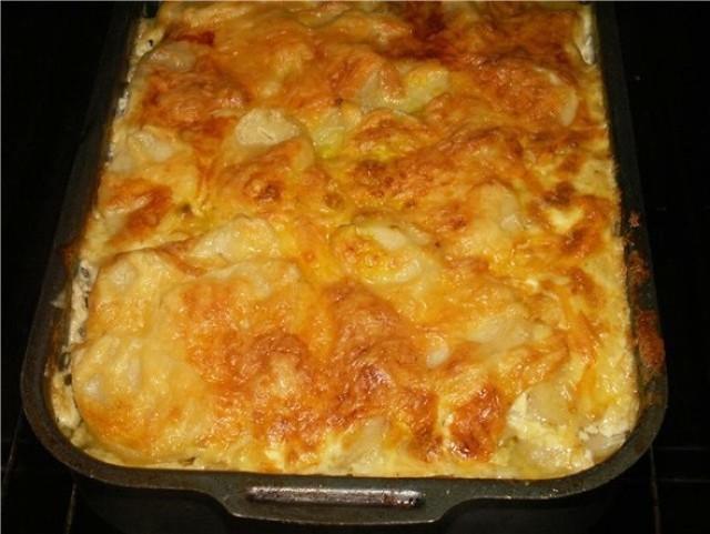 рецепт запеканки с ветчиной и картошкой