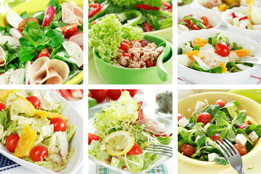 Рецепты салатов диетические с