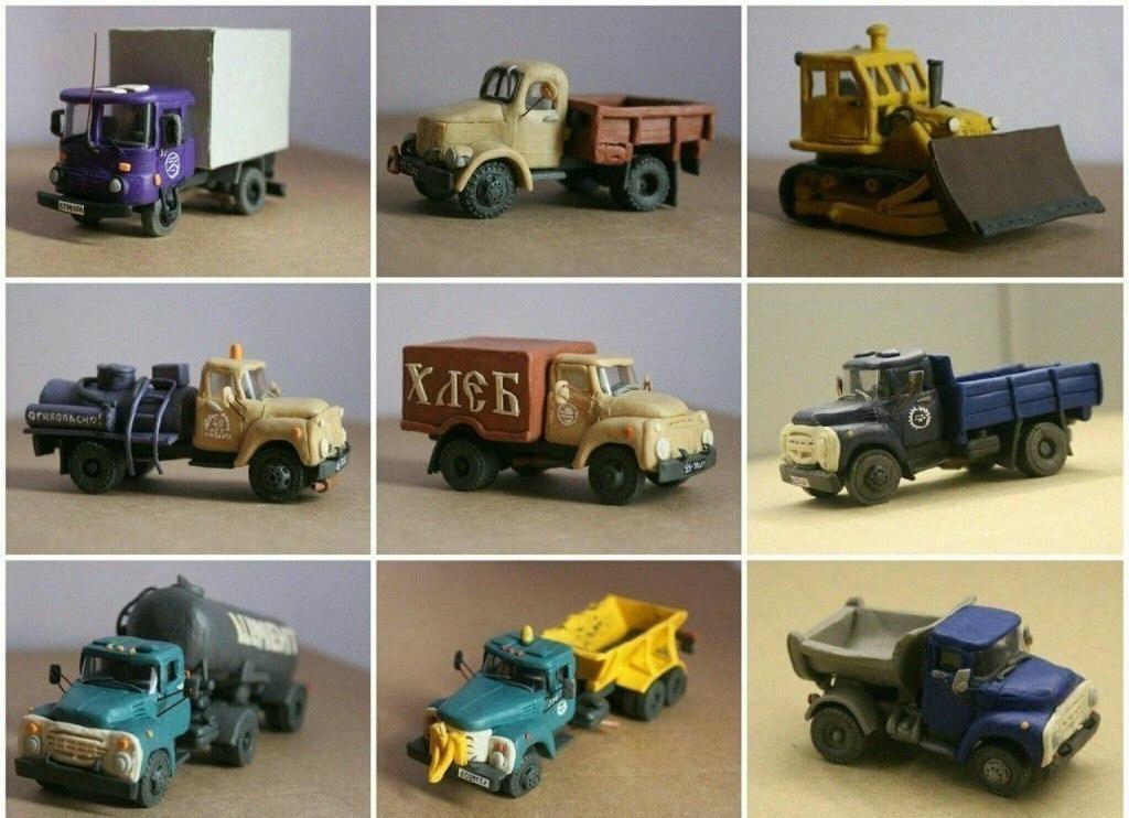 Автомобили из пластилина своими руками