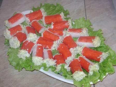 фаршированные крабовые палочки рецепты с фото простые
