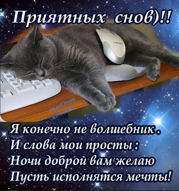 Приятных снов. пожелание на ночь
