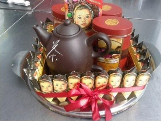 Чайный подарок на юбилей 41