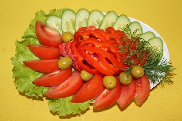 Как сделать овощную нарезка