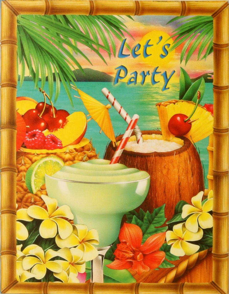 Гавайская вечеринка открытки