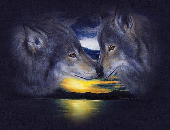 Душа волка открытка