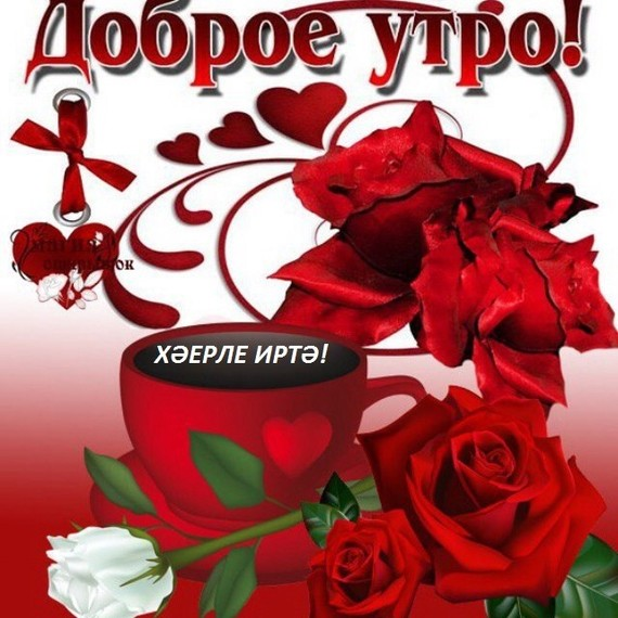 Открытки с добрым утром прикольные парню новинки на татарском языке