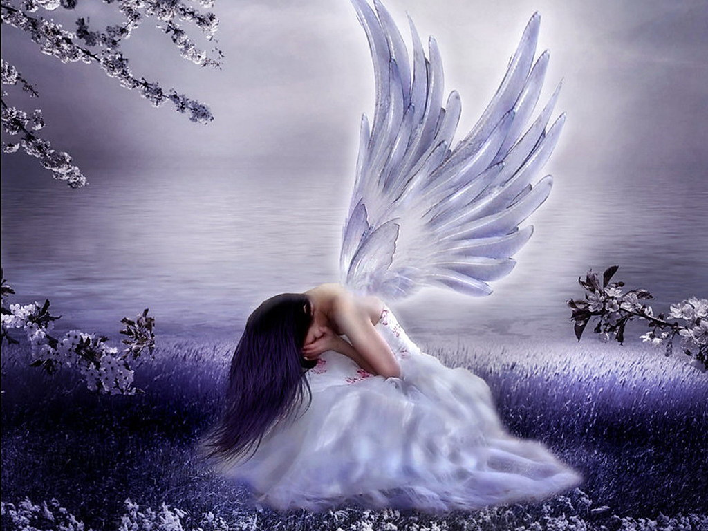 Картинки с ангелами плачут