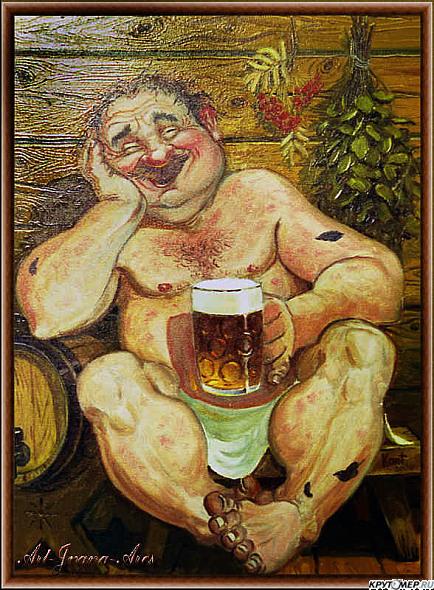 Мужики в бане смешные картинки