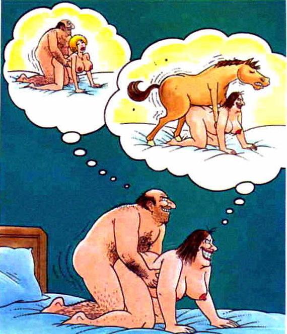 Неприличные шутки на эротических изображениях