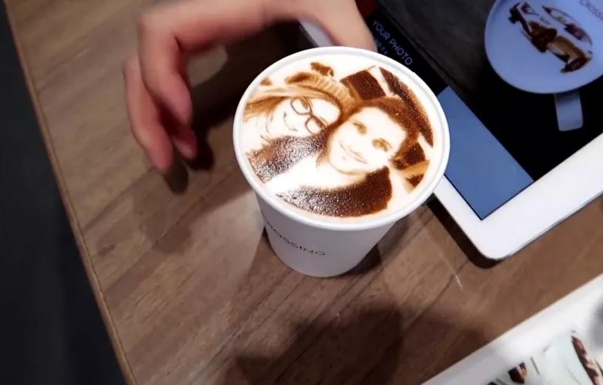 аппарат для нанесения фото на кофе высоком
