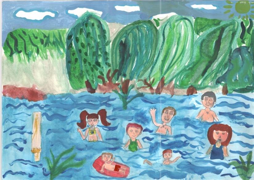 Набора, летние каникулы рисунок