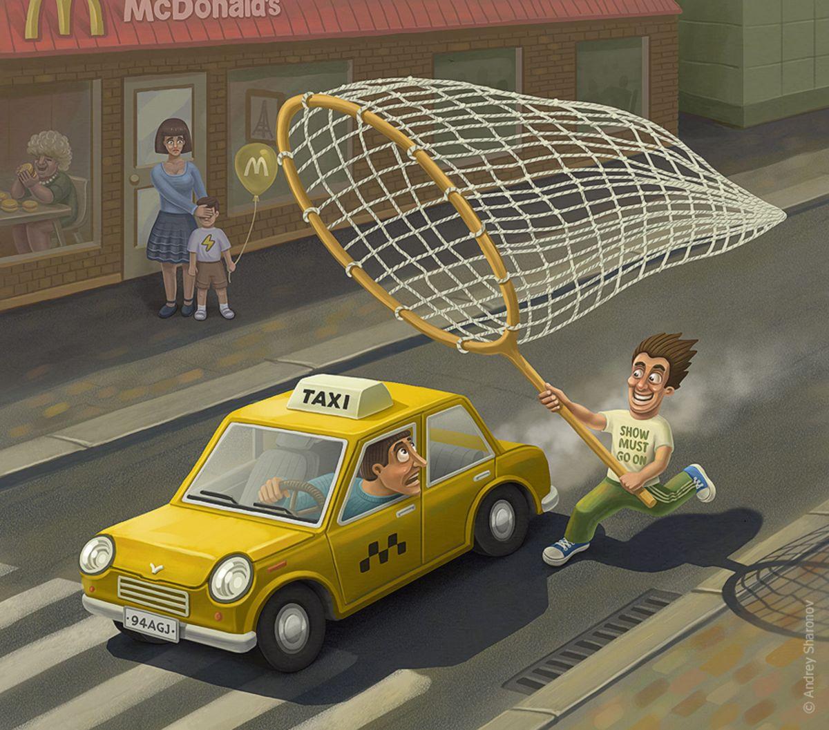 Смешное такси картинки
