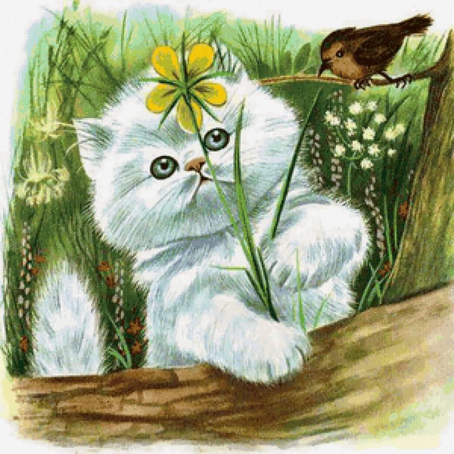 что доброе утро котенок открытка углам